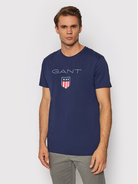 Gant Gant T-shirt Shield 2003023 Tamnoplava Regular Fit