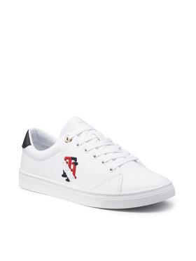 Tommy Hilfiger Tommy Hilfiger Sneakersy Tommy Monogram Casual Sneaker FW0FW05794 Biały