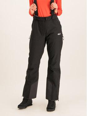 Jack Wolfskin Jack Wolfskin Lyžařské kalhoty Bridgeport 1111841-6000 Černá Regular Fit