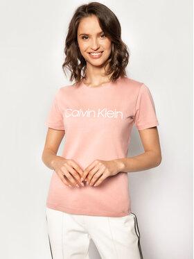 Calvin Klein Calvin Klein Póló Core Crew Tee K20K202018 Rózsaszín Regular Fit