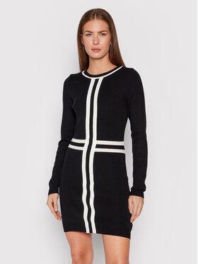 Rinascimento Rinascimento Плетена рокля CFM0010417003 Черен Slim Fit