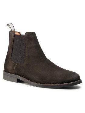 Gant Gant Kotníková obuv s elastickým prvkem Sharpville 21653035 Hnědá