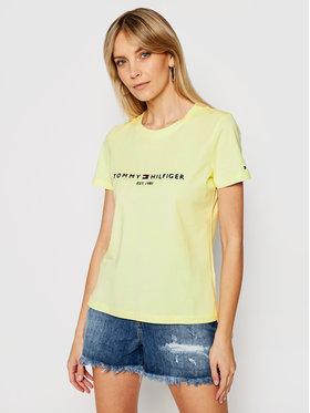 Tommy Hilfiger Tommy Hilfiger T-Shirt Reg Tee WW0WW28681 Κίτρινο Regular Fit