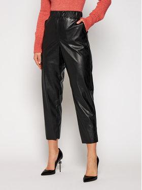 MAX&Co. MAX&Co. Kožené kalhoty Danni 67849720 Černá Regular Fit