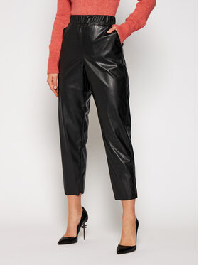 MAX&Co. MAX&Co. Spodnie skórzane Danni 67849720 Czarny Regular Fit