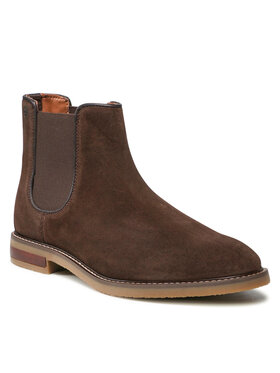 Clarks Clarks Členková obuv s elastickým prvkom Jaxen Chelsea 261628067 Hnedá