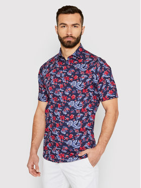 Tommy Hilfiger Tailored Tommy Hilfiger Tailored Košile Flower Print MW0MW18449 Tmavomodrá Regular Fit