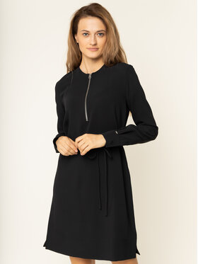 Calvin Klein Calvin Klein Každodenné šaty Travel Crepe K20K201542 Čierna Regular Fit
