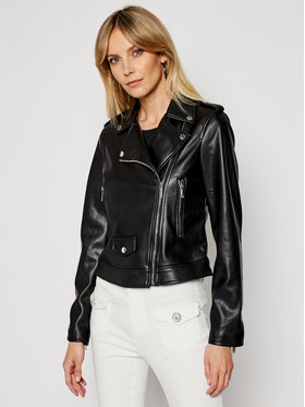 Morgan Morgan Kožená bunda 211-GABY Čierna Slim Fit