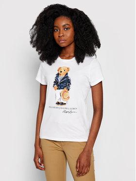 Polo Ralph Lauren Polo Ralph Lauren T-Shirt Ssl 211827926001 Bílá Regular Fit