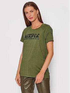 LaBellaMafia LaBellaMafia T-Shirt 21691 Zielony Regular Fit