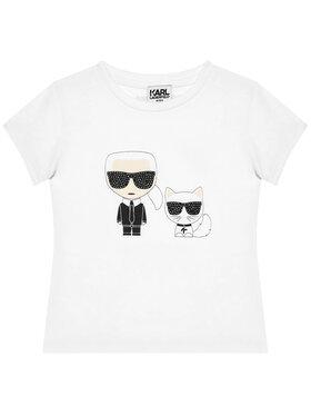 KARL LAGERFELD KARL LAGERFELD T-Shirt Z15297 D Biały Regular Fit