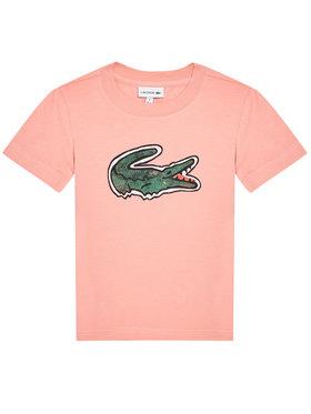 Lacoste Lacoste Tričko TJ0277 Ružová Regular Fit