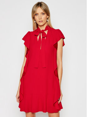Red Valentino Red Valentino Robe de cocktail VR3VAW95 Rouge Regular Fit