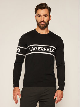 KARL LAGERFELD KARL LAGERFELD Svetr Crewneck 655017 502399 Černá Regular Fit