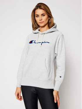 Champion Champion Bluza Script Logo 113794 Szary Regular Fit