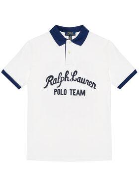Polo Ralph Lauren Polo Ralph Lauren Polo marškinėliai Ss Kc 323836607001 Balta Regular Fit
