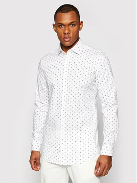 Pierre Cardin Pierre Cardin Košile 4501/000/27420 Bílá Slim Fit