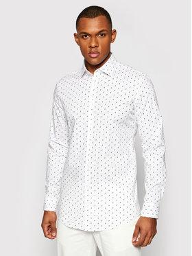 Pierre Cardin Pierre Cardin Koszula 4501/000/27420 Biały Slim Fit