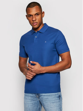 Calvin Klein Calvin Klein Polo Refined Pique K10K102758 Blu scuro Slim Fit