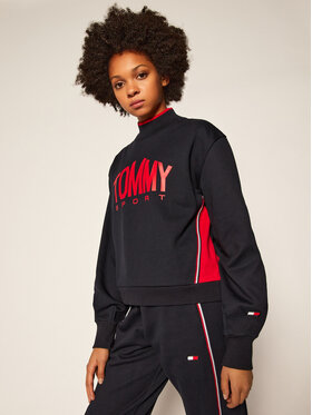 Tommy Sport Tommy Sport Суитшърт Cropped Crew Neck S10S100662 Тъмносин Cropped Fit