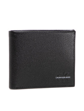 Calvin Klein Jeans Calvin Klein Jeans Μεγάλο Πορτοφόλι Ανδρικό Micro Pebble Billfold W/Coin 10C K50K507238 Μαύρο