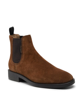 Gant Gant Členková obuv s elastickým prvkom Brockwill 23653176 Hnedá