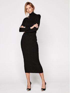 Elisabetta Franchi Elisabetta Franchi Φόρεμα υφασμάτινο AM-56Q-06E2-V499 Μαύρο Slim Fit