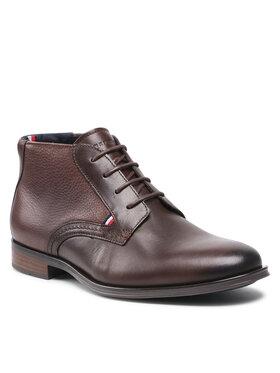 Tommy Hilfiger Tommy Hilfiger Зимни обувки Casual Leather Laces Boot FM0FM03780 Кафяв