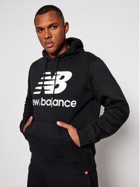New Balance New Balance Bluză MT03578 Negru Relaxed Fit