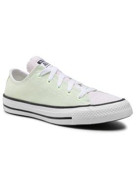 Converse Converse Sneakers aus Stoff Ctas Ox Barely Vol 167647C Grün