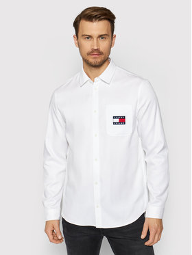 Tommy Jeans Tommy Jeans Риза Tjm Badqe Tencel DM0DM10159 Бял Regular Fit