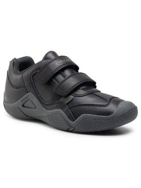 Geox Geox Sneakersy J Wader A J0430A 05443 C0033 D Čierna