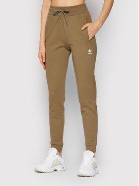 adidas adidas Spodnie dresowe adicolor Essentials H37877 Zielony Slim Fit