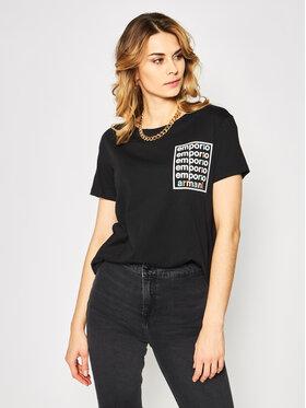 Emporio Armani Emporio Armani T-Shirt 3H2T7A 2JSYZ 0999 Czarny Regular Fit