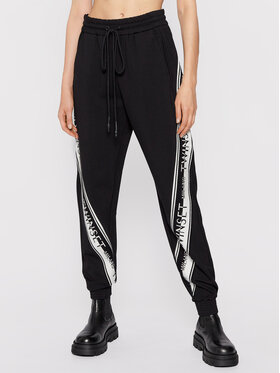 TWINSET TWINSET Teplákové kalhoty 212TT2383 Černá Regular Fit