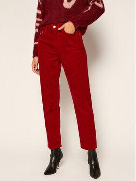 Tommy Jeans Tommy Jeans Παντελόνι υφασμάτινο Harper DW0DW09186 Μπορντό Straight Fit