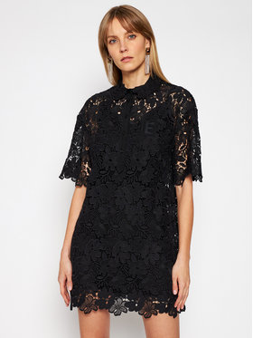 Ermanno Firenze Ermanno Firenze Коктейлна рокля AB42MAC Черен Regular Fit