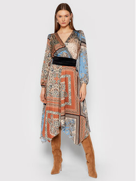 Rinascimento Rinascimento Sukienka codzienna CFC0104962003 Brązowy Regular Fit