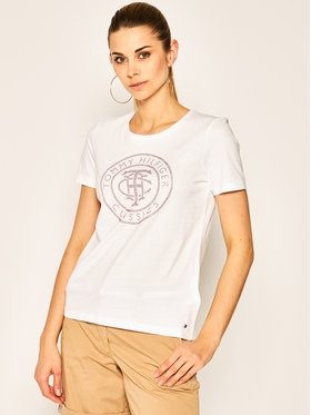Tommy Hilfiger Tommy Hilfiger T-Shirt Logo WW0WW27137 Λευκό Regular Fit