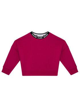 Calvin Klein Jeans Calvin Klein Jeans Bluza Intarsia Logo IG0IG01009 Różowy Oversize Fit