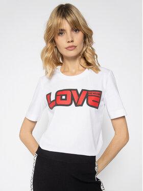 LOVE MOSCHINO LOVE MOSCHINO Marškinėliai W4F152AM 3876 Balta Regular Fit