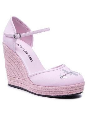 Calvin Klein Jeans Calvin Klein Jeans Espadrilky Wedge Sandal Close Toe Co YW0YW00150 Ružová