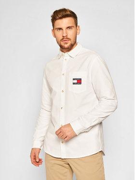 Tommy Jeans Tommy Jeans Cămașă Brushed Oxford Badge DM0DM08775 Alb Regular Fit