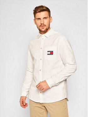 Tommy Jeans Tommy Jeans Košile Brushed Oxford Badge DM0DM08775 Bílá Regular Fit