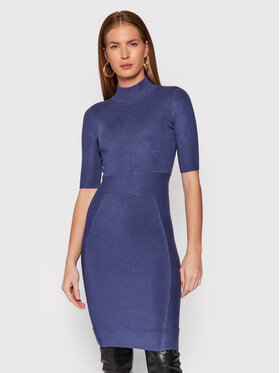 Guess Guess Плетена рокля Allison W1BK53 Z2BF0 Тъмносин Slim Fit