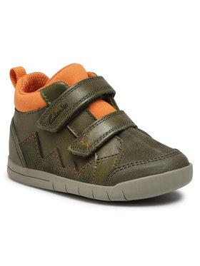 Clarks Clarks Sneakersy Rex Park T 261521876 Zelená