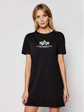 Alpha Industries Alpha Industries T-Shirt Basic T Long 116055 Czarny Regular Fit