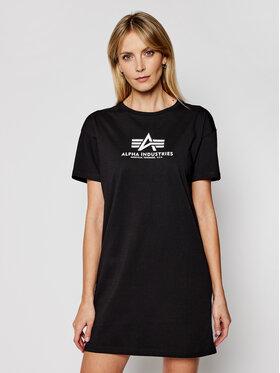 Alpha Industries Alpha Industries T-Shirt Basic T Long 116055 Schwarz Regular Fit
