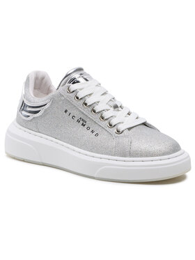 John Richmond John Richmond Sneakersy 10215/CP B Srebrny